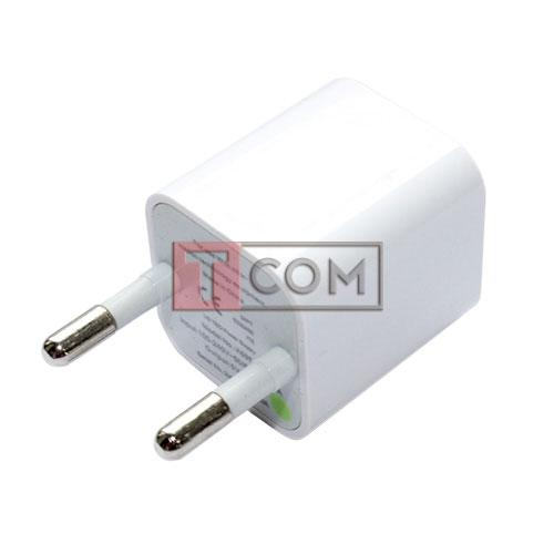 Адаптер USB 1А 220В белый