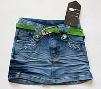 Юбка джинсовая  для девочки 4 - 8 лет