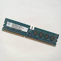 Оперативная память Nanya DDR3 2Gb 1333MHz PC3-10600U 1R8 CL9 (NT4GC64B8HG0NF-CG) Б/У, фото 1