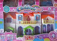 Большой дом для двух куколок и много мебели