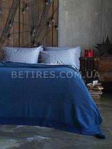 Покрывало шерстяное 150x200 BETIRES BALL NAVY BLUE (50% шерсть, 50% акрил) синее