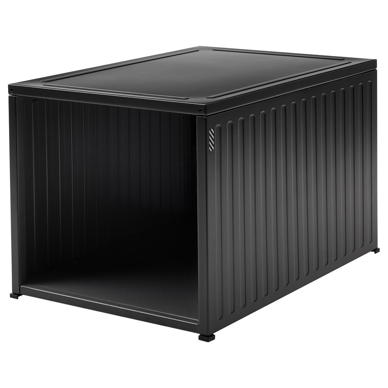 IKEA SPANST (204.003.99) Коробка для обуви, антрацит