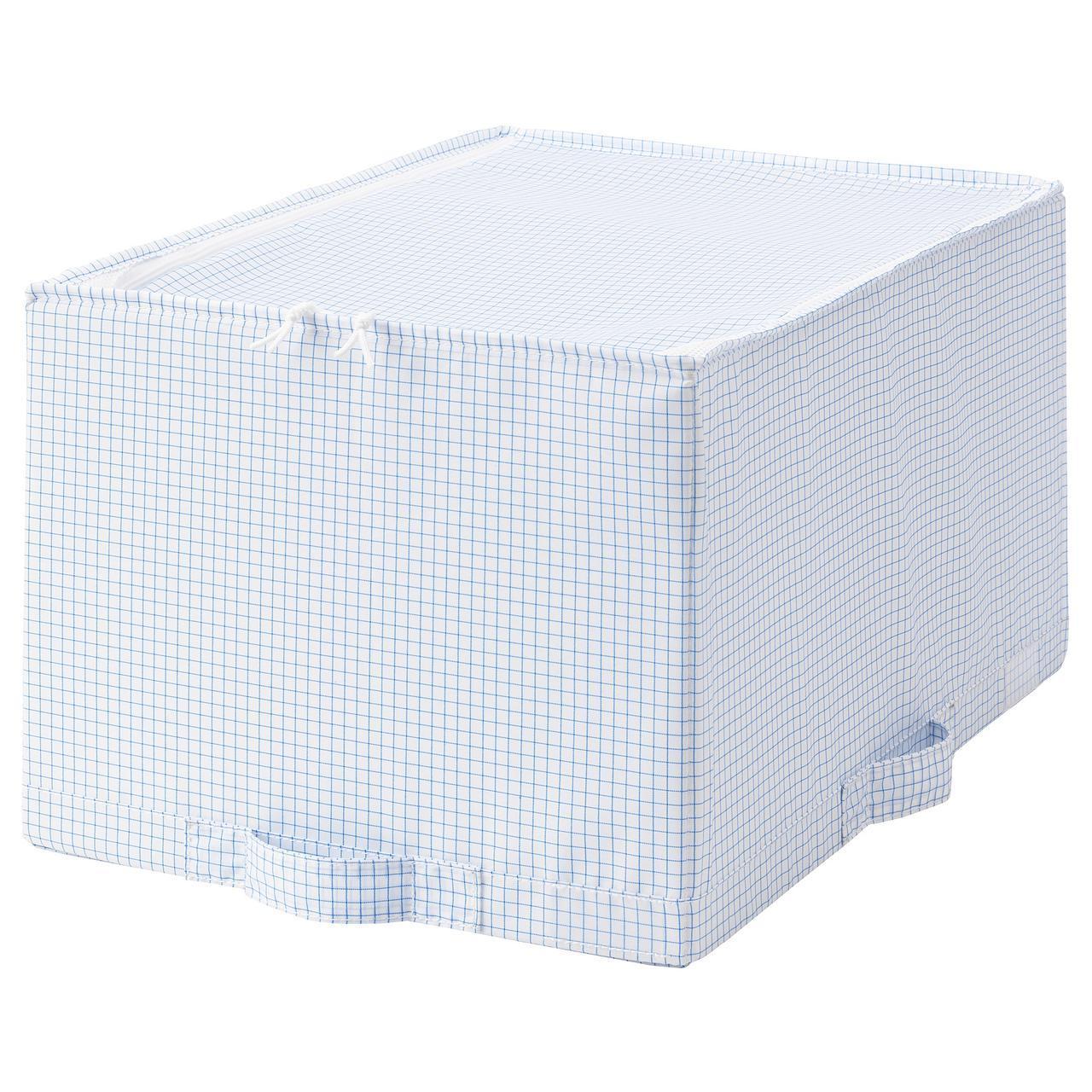 IKEA STUK (903.744.72) Сумка белого/синего цвета