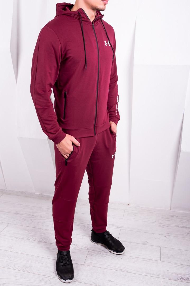 0d099183832 Бордовый мужской спортивный костюм Under Armour (Top реплика)