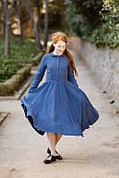 Платье яркое из льна офис, город. Размер , цвет  - любой!, фото 1