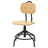 IKEA KULLABERG (103.203.41) Рабочий стул, сосна, черный