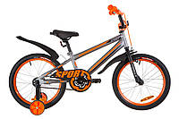 """Детский велосипед Formula Sport 18"""" серо-оранжевый"""