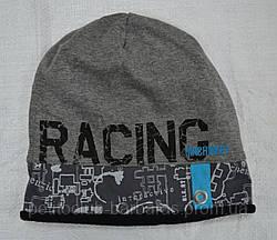 Демисезонная шапка для мальчика Racing серая (AJS, Польша)