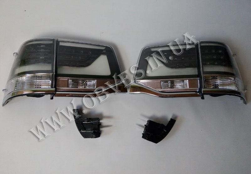 Задние диодные фонари Toyota Land Cruiser 200 2016+ (Smoke)