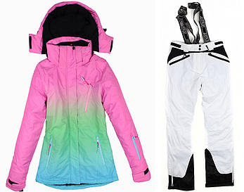 Лыжный костюм WHITE-PINK, фото 2