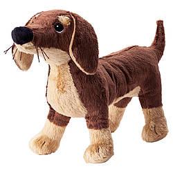 IKEA SMASLUG (202.604.45) Мягкая игрушка, собака, коричневый