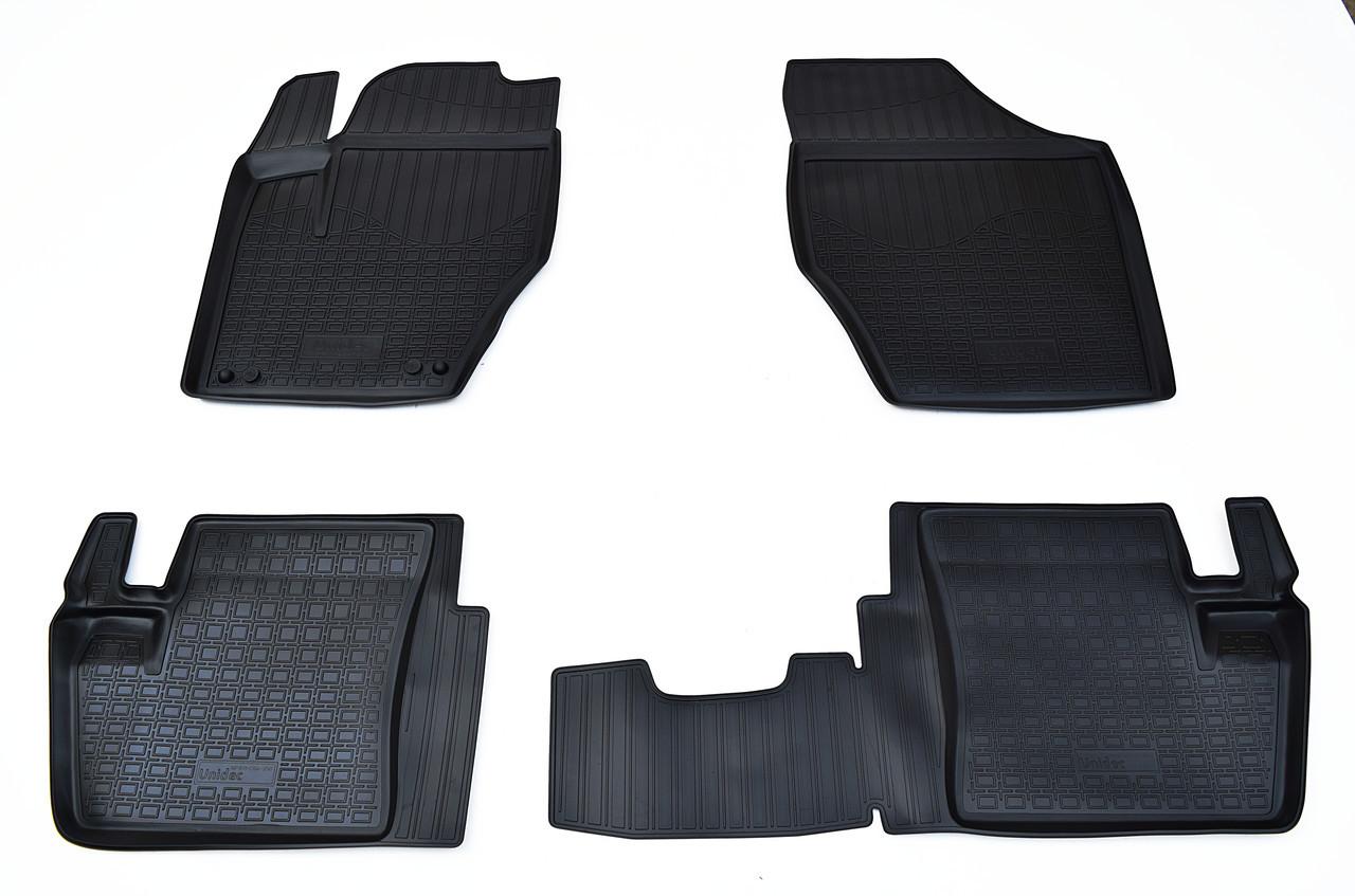 Коврики в салон для Peugeot 408 (12-)/Citroen C4 SD (13-) (полиур., компл - 4шт) NPA11-C64-350