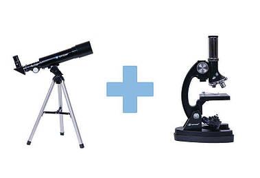 Телескоп и микроскоп набор 1200х