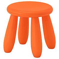 IKEA MAMMUT (503.653.61) Детский стул,табурет оранжевый