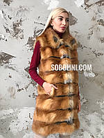 Жилет  из натурального меха лисы под заказ, фото 1