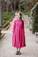 Платье яркое нежное из льна офис, город. Размер , цвет  - любой!, фото 1