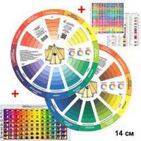 Цветовой круг для Дизайнера и Стилиста двухсторонний 14см.