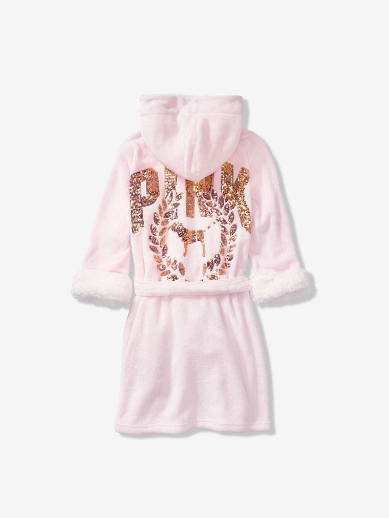 Плюшевый халат Victoria s Secret PINK нежно-розовый с капюшоном -  интернет-магазин California MULTIBRAND 2d1fe6aa4157b