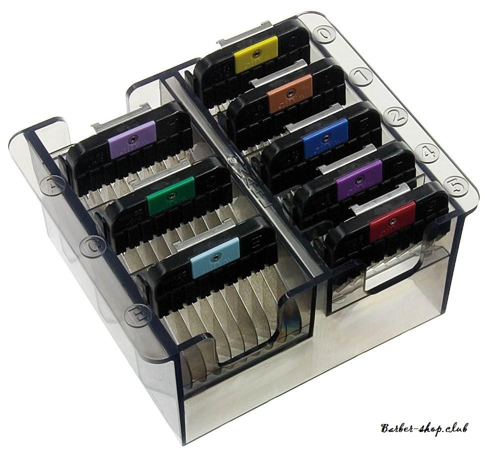 Набор цветных насадок WAHL 1247-7440 со стальными зубцами к роторным машинкам Moser, Wahl