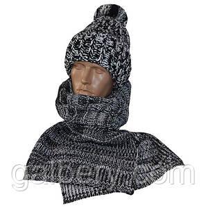 """Зимняя шапка """"Поло"""" и шарф"""