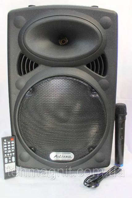 Комбоусилитель аккумуляторная колонка с микрофоном ALLIANG-F14K-DT 150W (FM/USB/Bluetooth)