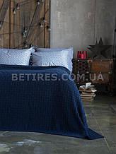 Покрывало 220x240 BETIRES HARRISON MARINE (50% бавовна, 50% акрил) синее