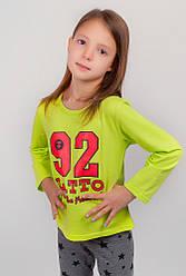 Батник детский, свитшот 334K001-9 (Салатовый)