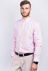 Рубашка мужская стильная 2B001 (Розовый)