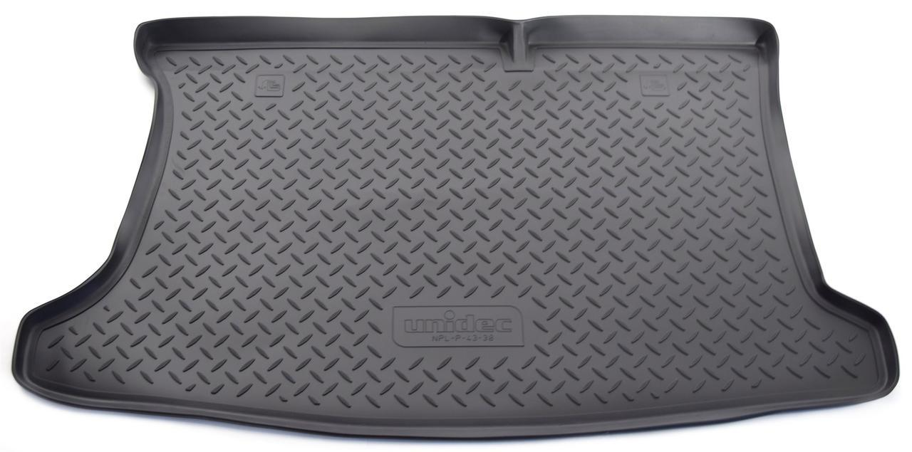 Коврик в багажник Kia Rio (QB) HB (12-) полиуретановый