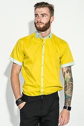 Рубашка мужская с контрастным воротником 50P019 (Горчичный)