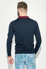 Свитер мужской с воротником в мелкий горошек 50PD391 (Темно-синий), фото 2