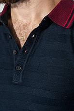 Свитер мужской с воротником в мелкий горошек 50PD391 (Темно-синий), фото 3