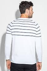 Свитер мужской фактурная полоска 498F003 (Бело-синий), фото 3