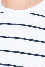 Свитер мужской фактурная полоска 498F003 (Бело-синий), фото 2