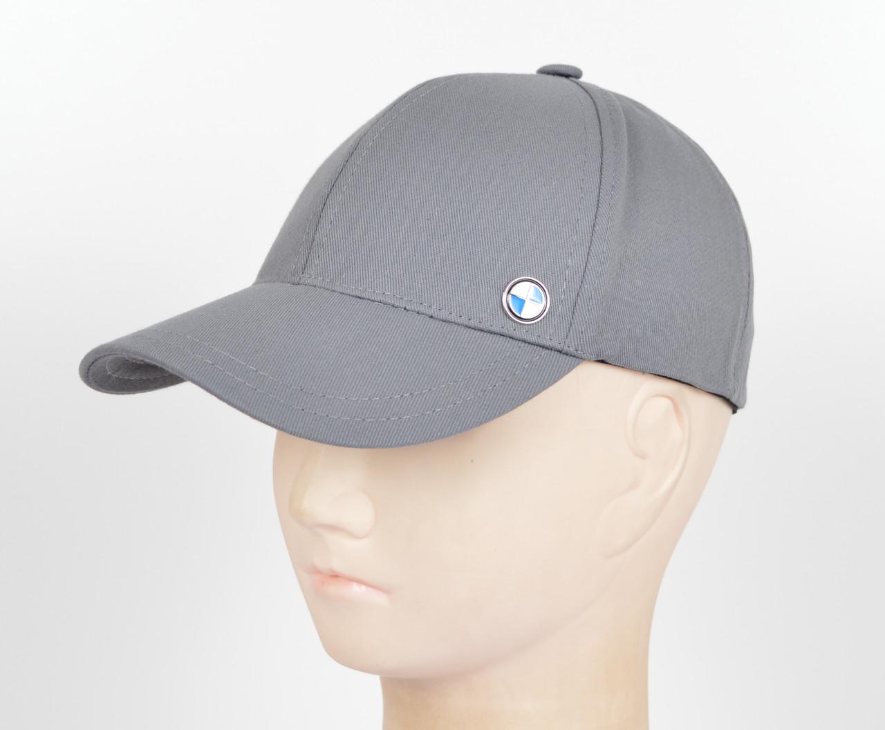 "Бейсболка BMW ""Стрейч котон""  SK1911 серый"