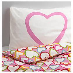 IKEA VITAMINER HJARTA (801.632.91) Комплект постельного белья, разноцветный
