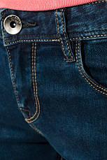 Джинсы женские однотонные 783K008 (Синий), фото 3