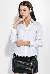 Рубашка женская на пуговицах 287V001-3 (Бело-синий)