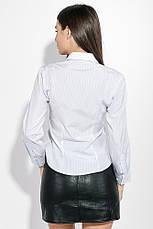 Рубашка женская на пуговицах 287V001-3 (Бело-синий), фото 3