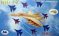 Конструктор деревянный sea-land самолет МИГ-29 4-е пластины