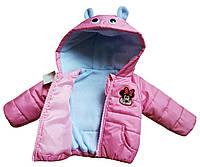 Детская демисезонная куртка Mickey 9м Pink (R0574)