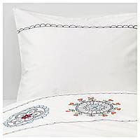 IKEA VANSKAPLIG (703.326.66) Комплект постельного белья, белой вышивки