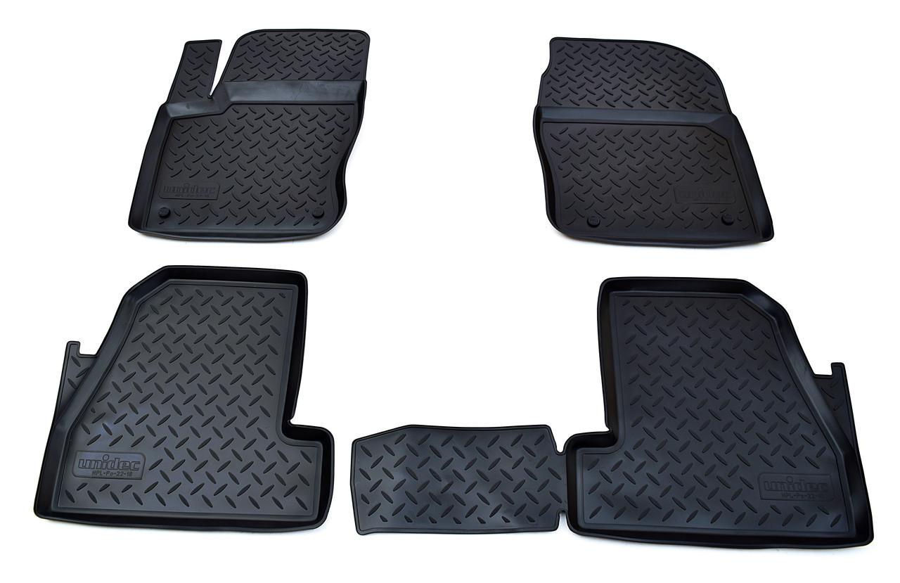 Коврики в салон для Ford Focus III (11-) (полиур., компл - 4шт) NPL-Po-22-18