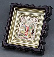 Киот для репродукции фигурный,с внутренней деревянной рамой покрытой краской под золото, фото 5