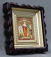 Киот для репродукции фигурный,с внутренней деревянной рамой покрытой краской под золото, фото 3