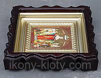 Киот для репродукции фигурный,с внутренней деревянной рамой покрытой краской под золото, фото 6
