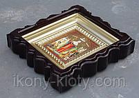 Киот для репродукции фигурный,с внутренней деревянной рамой покрытой краской под золото, фото 7