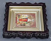 Киот для репродукции фигурный,с внутренней деревянной рамой покрытой краской под золото, фото 9