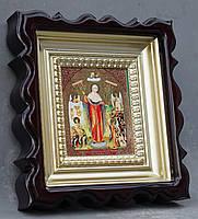 Киот для репродукции фигурный,с внутренней деревянной рамой покрытой краской под золото, фото 2