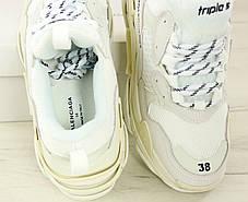 Кроссовки женские Balenciaga Triple S баленсиага белые. Многослойная подошва.. ТОП Реплика ААА класса., фото 2